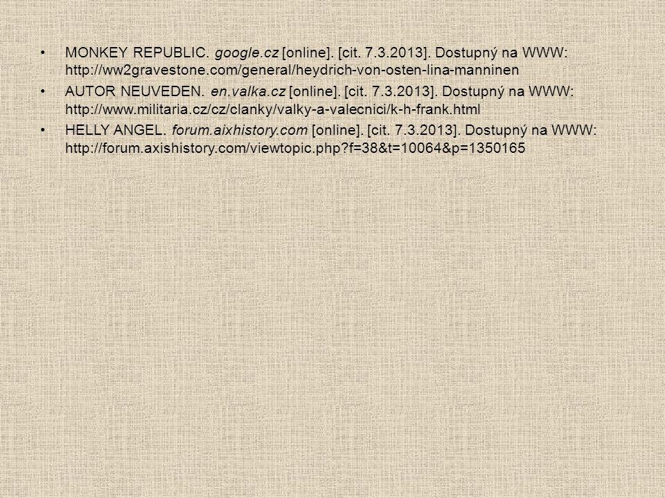 MONKEY REPUBLIC. google. cz [online]. [cit. 7. 3. 2013]